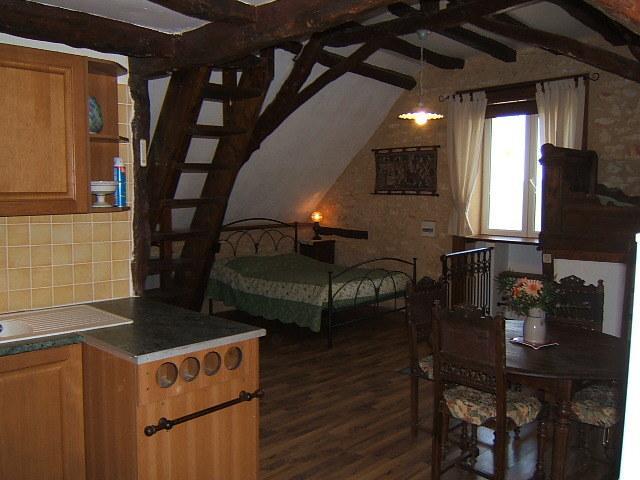 Gîte chambre du haut, 1 lit de 140