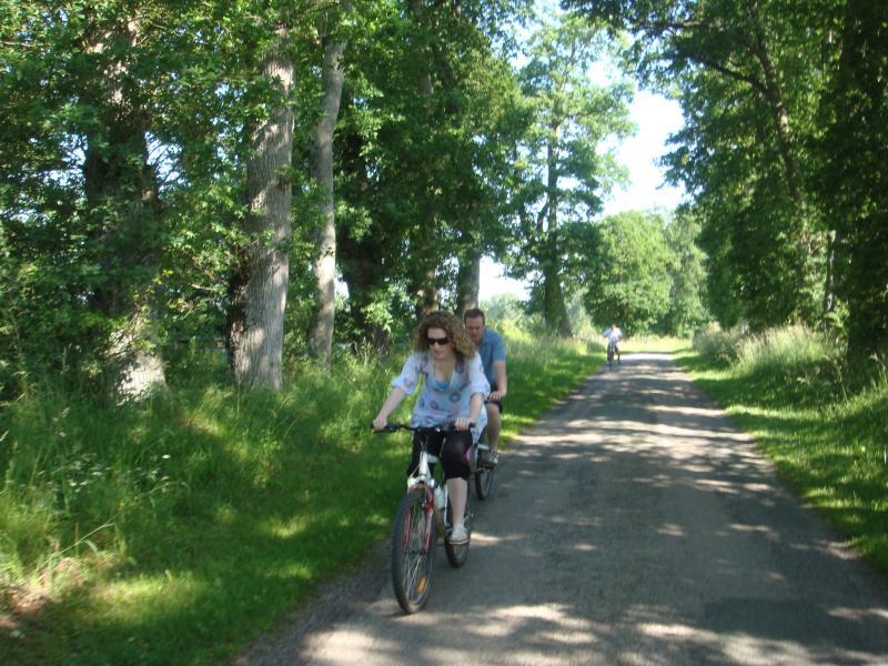 Carreteras locales son tranquilas para ir en bicicleta