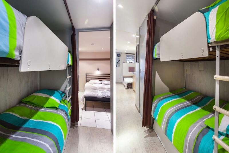 2 camas beliche (roupa de cama fresca fornecido)