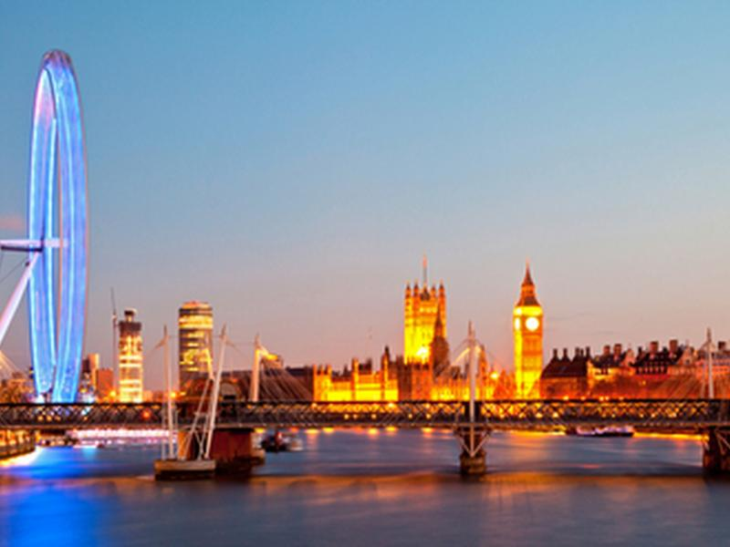 Big Ben, Houses of Parliament and London Eye (short tube ride)
