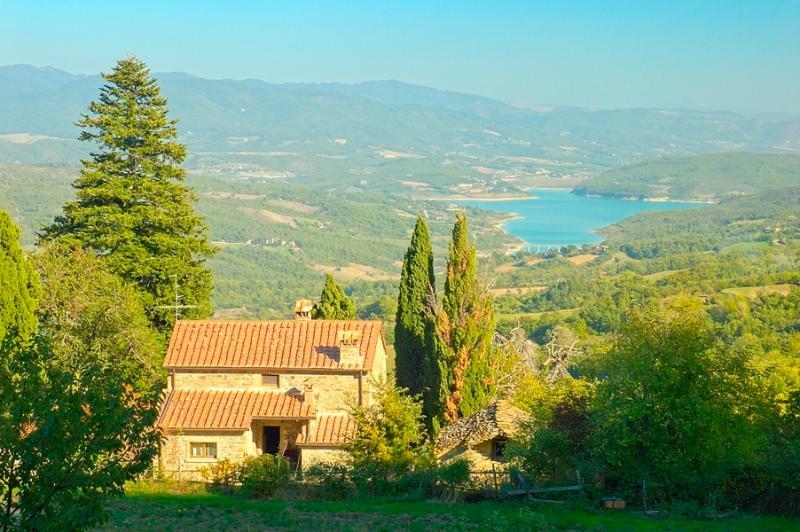 Main farmhouse w shared swimming pool, casa vacanza a Caprese Michelangelo
