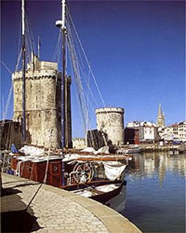 La Rochelle harbour and the two towers