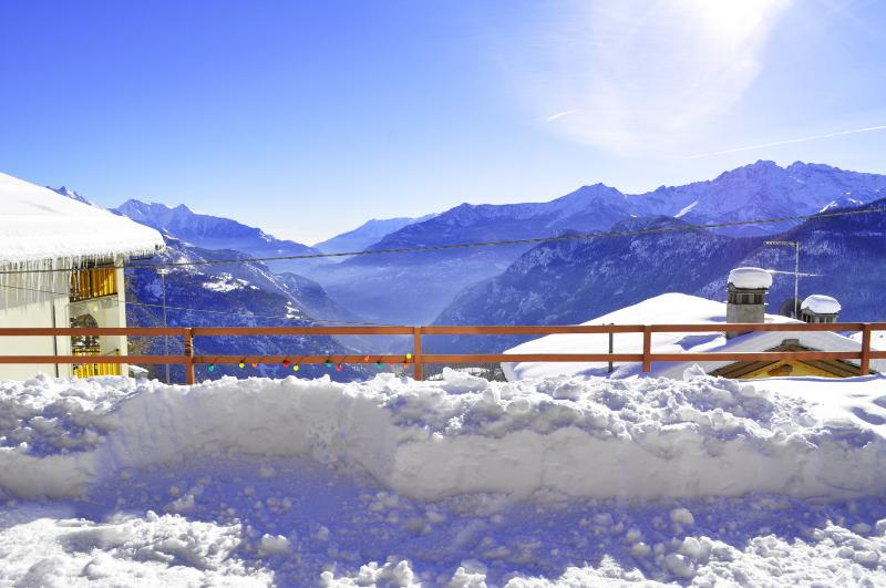 your panoramic view in winter time by the private garden