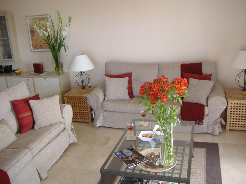 Lounge - large and sunny with views of the sea !! WIFI,TV, DVD player with large comfortable sofa&#0