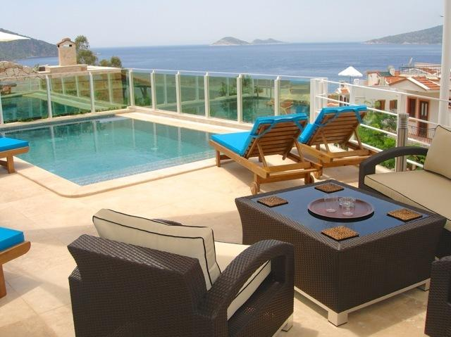 Comfortable poolside with fantastic views