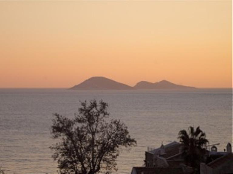 Sunset from the roof terrace.......lovely.......
