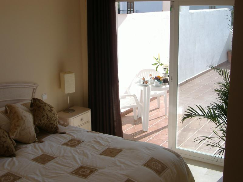 Master Bedroom, Breakfast on the Terrace ! with dressing room and en suite.
