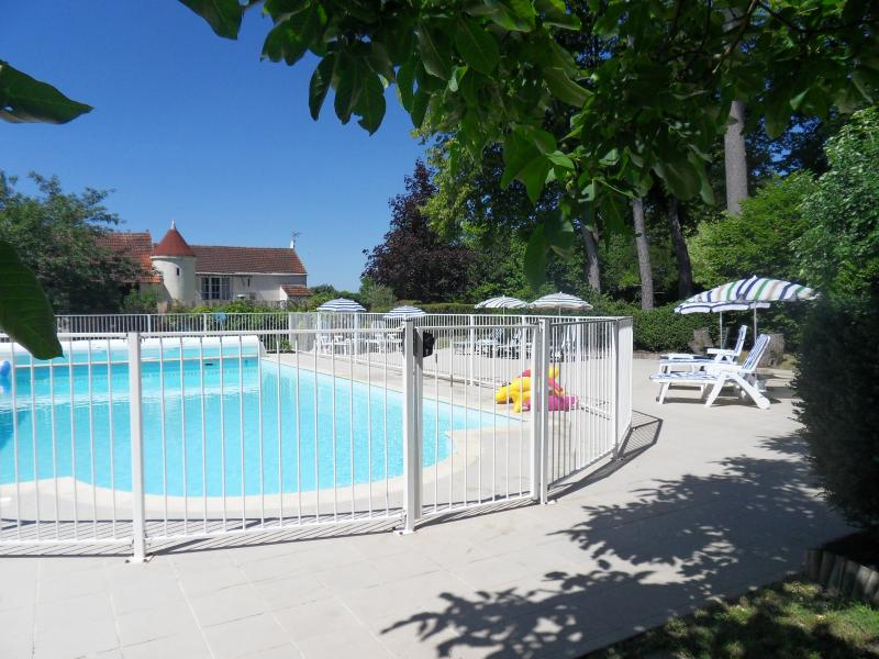 Heated salt water pool & sun patio