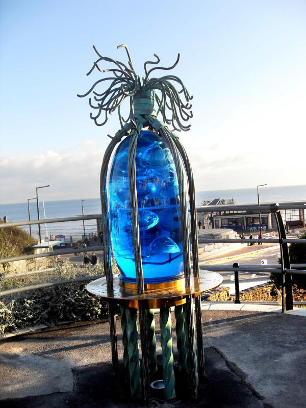 One of the new iconic art sculptures on the Sea Road Arts Trail linking the pier to the precinct