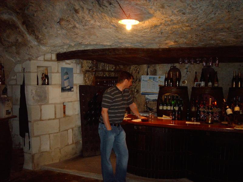 Wine tasting at the Suire Saumur Vineyard