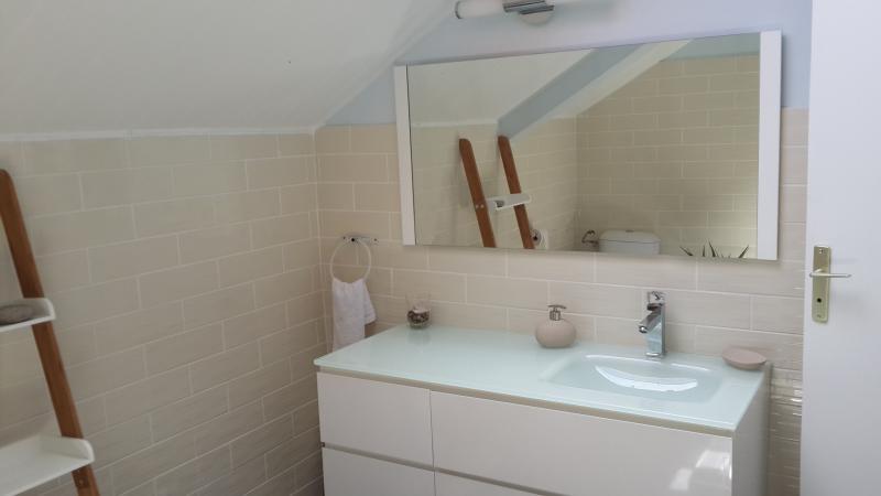 La salle d'eau de l'étage (douche à l'italienne)