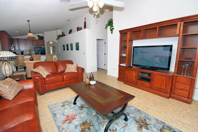 50' flat screen TV with HD cable channels