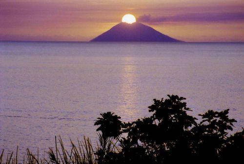 Stromboli as seen from the Apartment