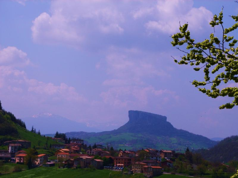 The Bismantova mountain is a local feature with stunning views from the top.