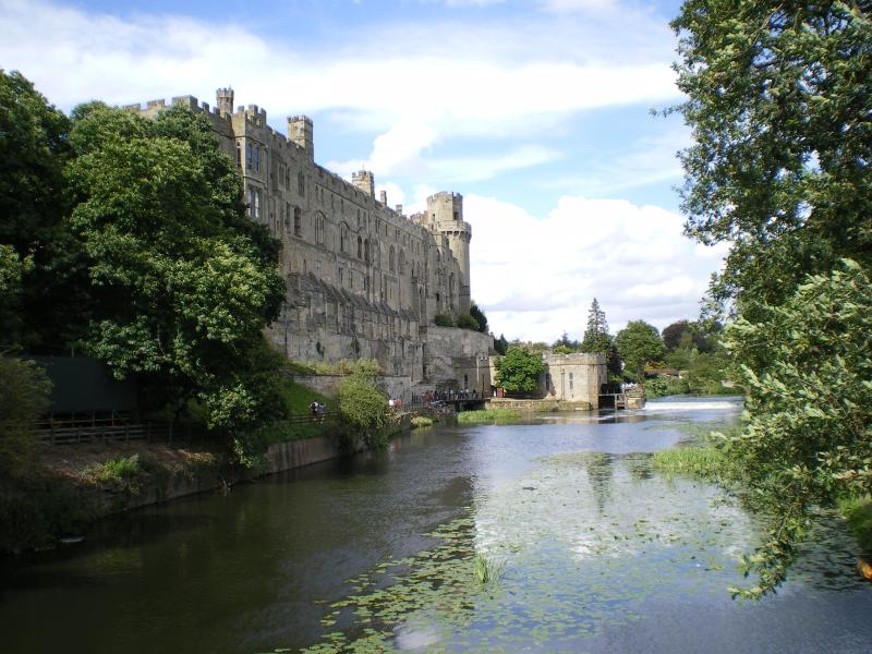 Our Finest Medieval Castle. Warwick Castle &  the river Avon. An exciting day out. Lovely town too.