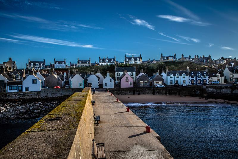 The quirky colourful houses of Findochty  ©Paul Brown Photography