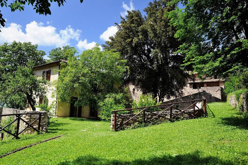 the agriturismo in the back, walking distance where you can enjoy breakfast or dinner if you wish