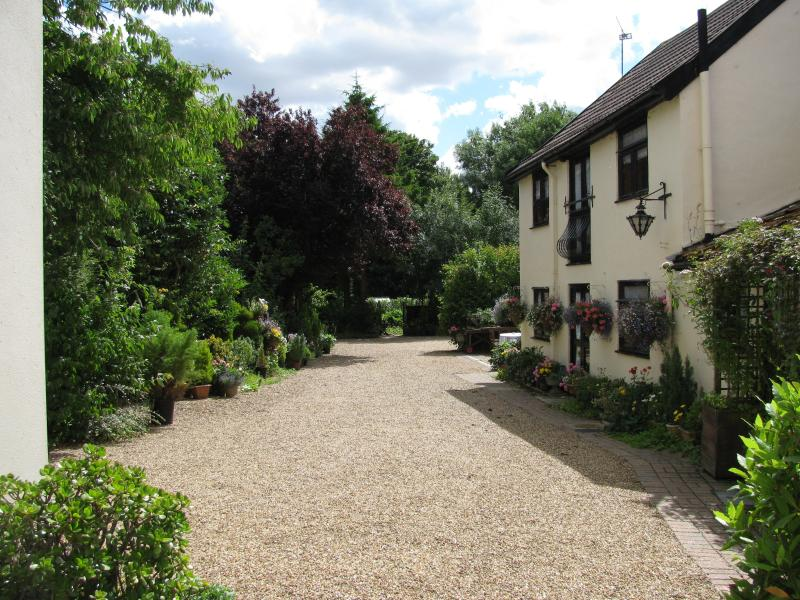 shared courtyard, with safe off road parking