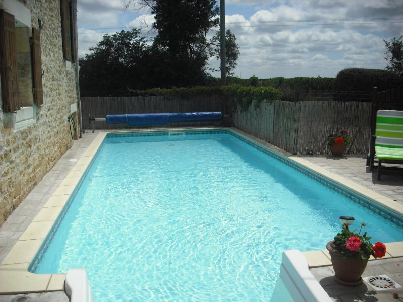 Lovely pool area in tranquil setting