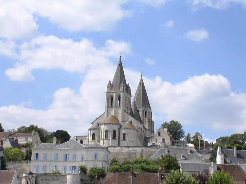 Nearby town of Loches - Church