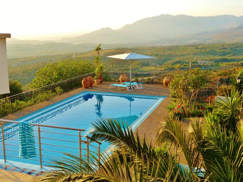 Theres a 12 metre long pool, with views over half the island!