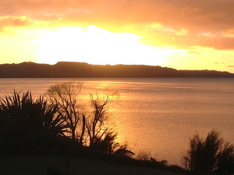 Winter sunrise over Lake Rotorua