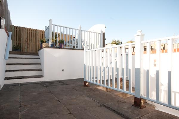 Decking on two levels - lower level paved with access from the kitchen