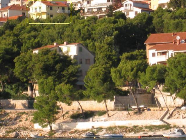 Trogir geel huis van strand