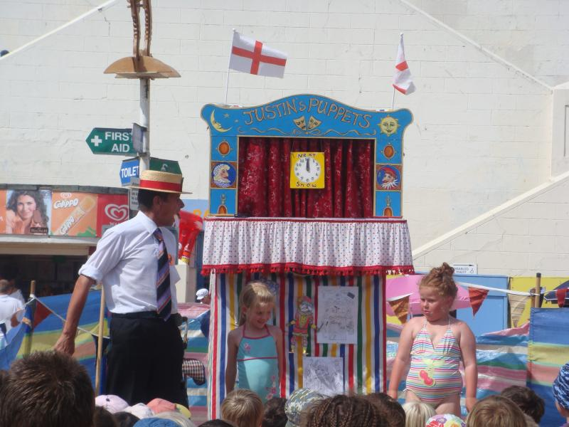 Punch and Judy on the beach every summer.