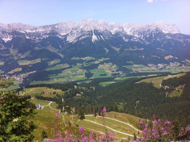 view from the top of the mountain, Scheffau