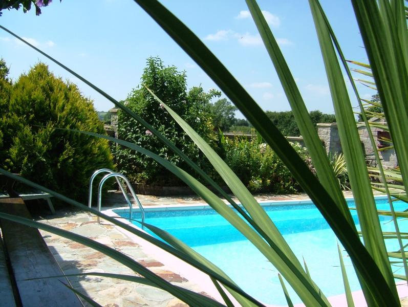 Splash around in the heated outdoor pool