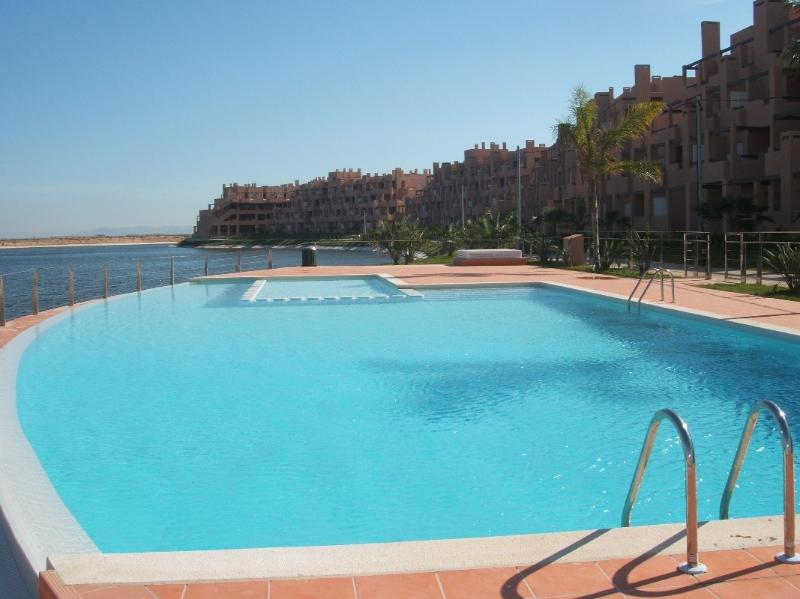 Pool less than 100m from the apartment with safe childrens area, ideal for cooling down