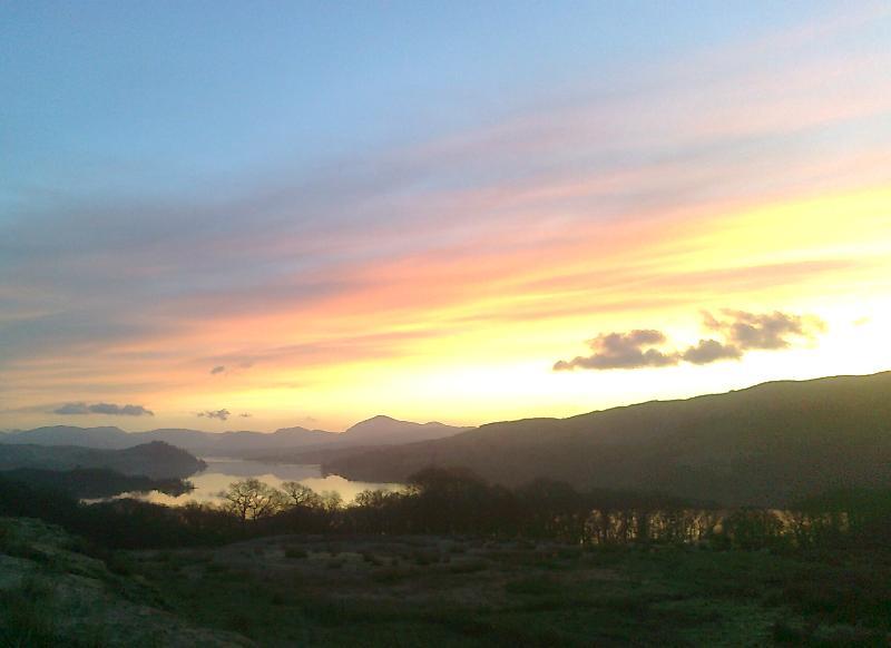 Loch Awe at sun set