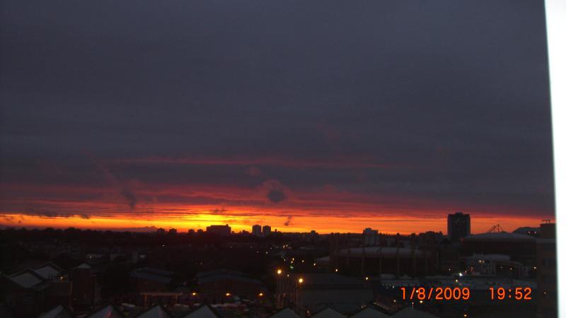 Una gloriosa puesta de sol!