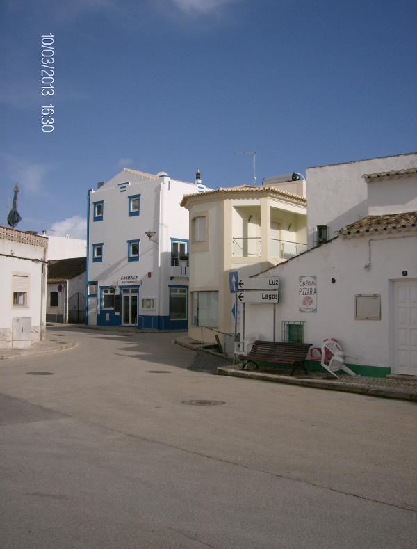 The square with the Pizzeria and Esquina restaurants, where the locals meet every day