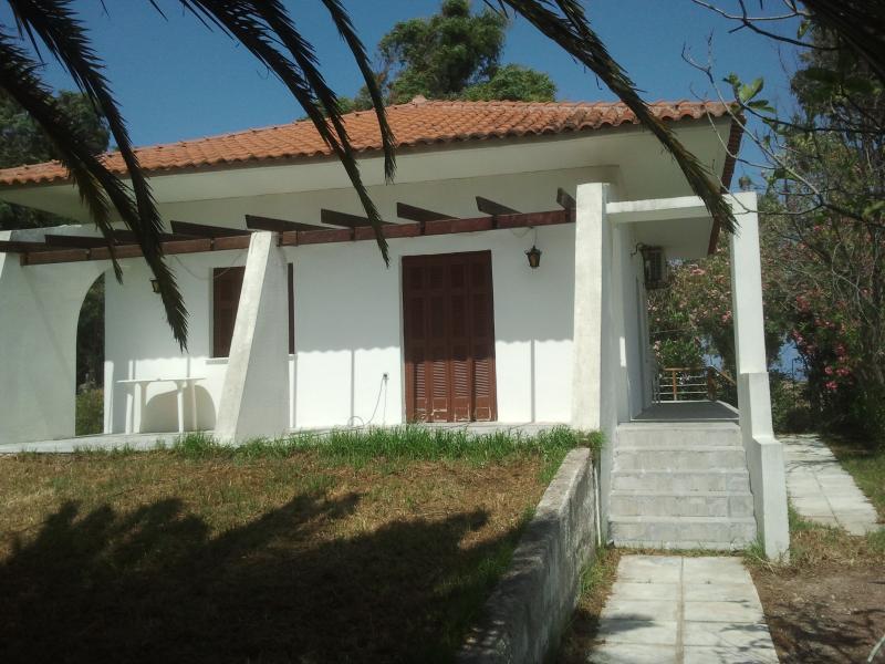 The villa  as seen from the garden