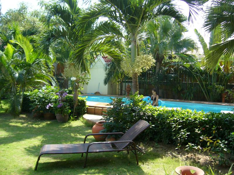 Beautiful private garden with pool
