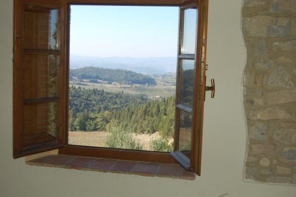 View from the Kitchen on the Chianti country side