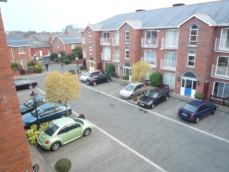 View of Square. We have one parking space with your apartment.