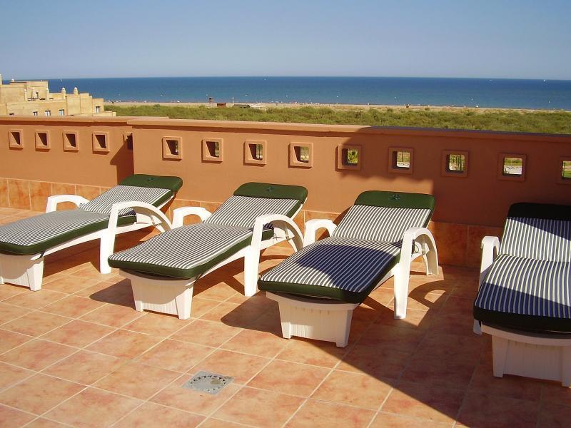 Sun loungers on the terrace