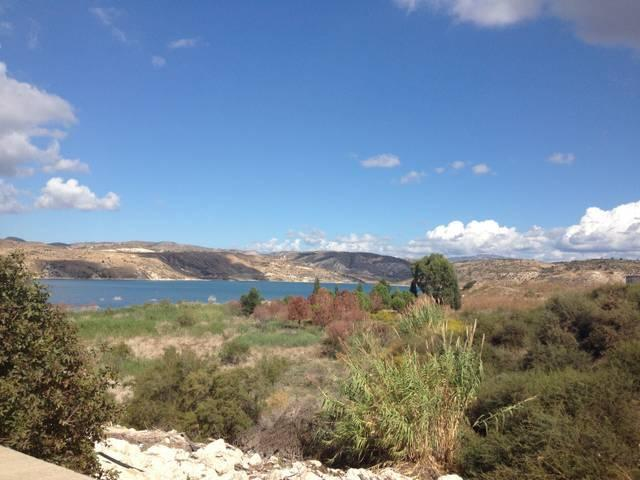 Asprokremmos Dam located next to the village of Anarita - excellent for walks or fishing