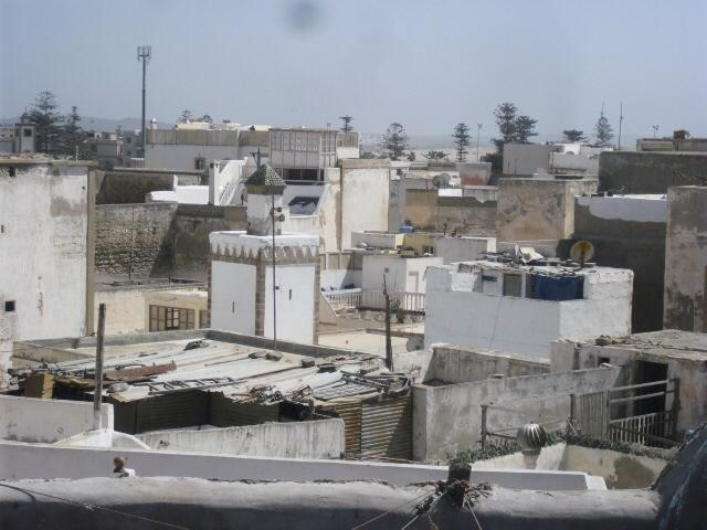 View across town from terrace