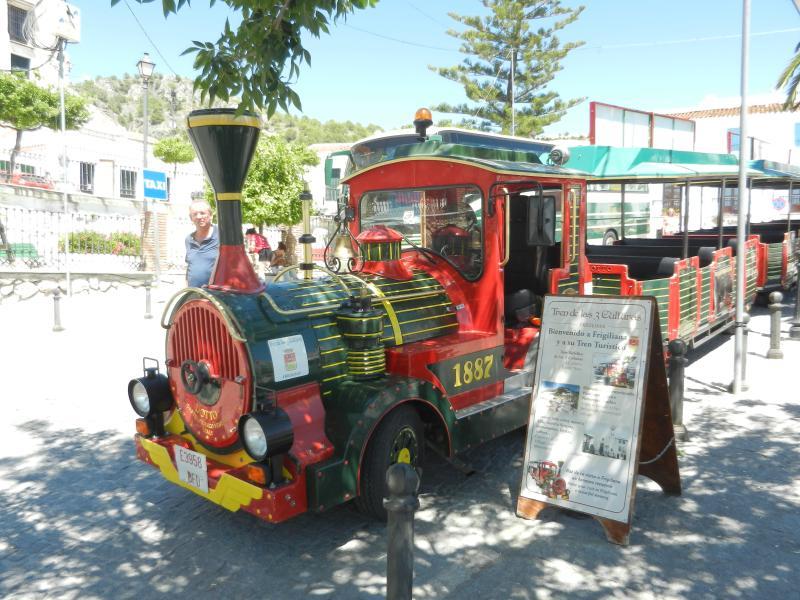 Land train in Frigiliana.