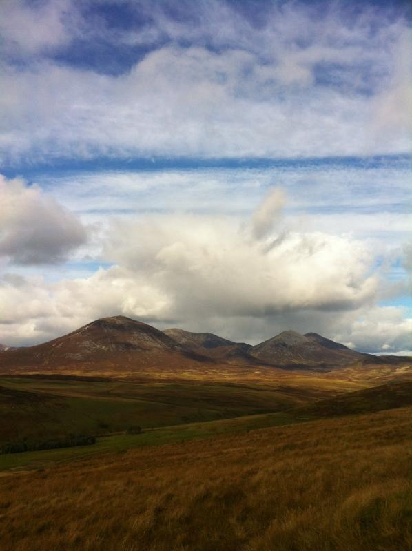 Beinn a' Ghlo - our nearest munro is 10 minutes drive away