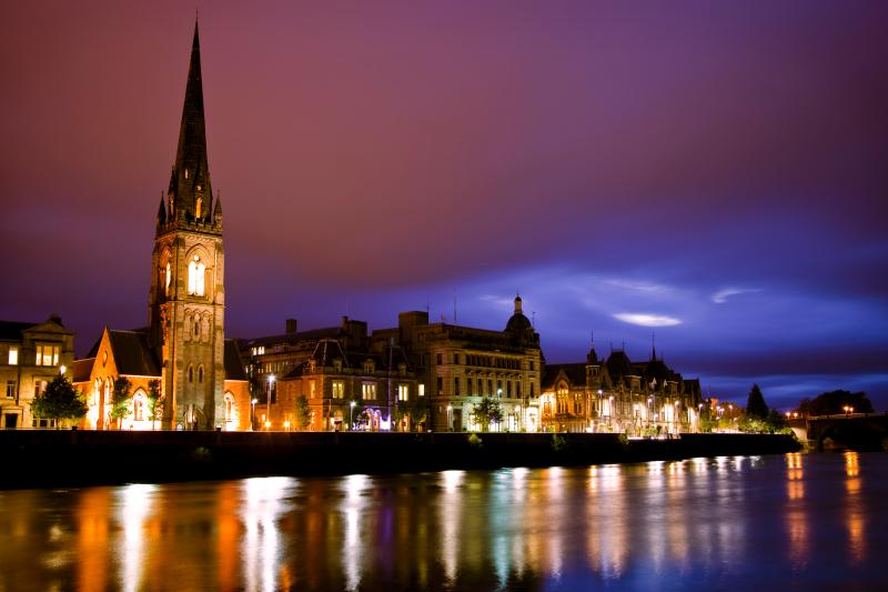 Tay Street, Perth by Night