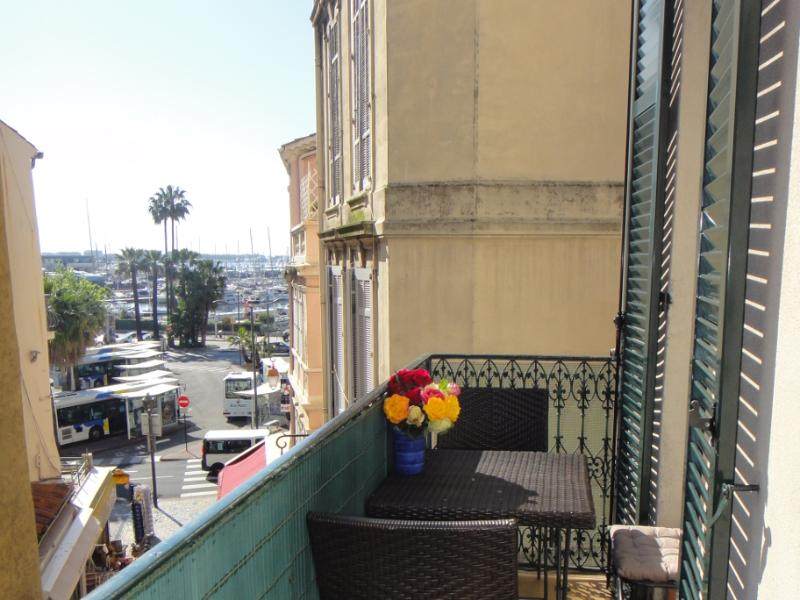 Lovely view of the Old Port of Cannes from the sunny balcony