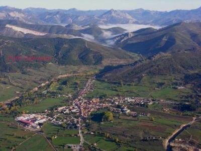 Village of Boñar with mountains views