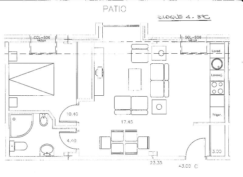Plan of the apartment 55 square metros