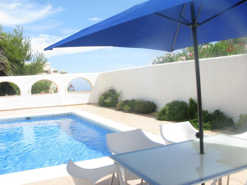 Private pool in arched courtyard - sunbathe and swim in private