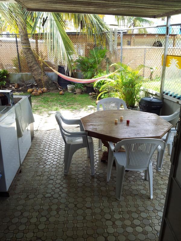 zona común para pasar el rato y lavadoras